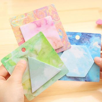 Geometry Series Memo Pad Post it Sticky Note Bookmark Writing Pad Cute Stationery Planner Sticker Note Office School Supply