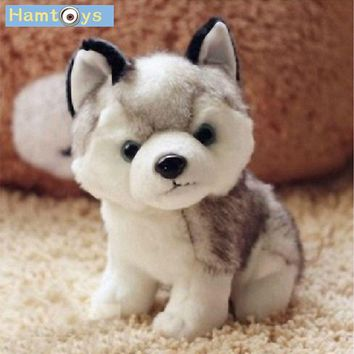 Hamtoys Kawaii 18 CM Simulation Husky Dog Plush Toy Gift For Kids Baby Toy Birthday Present Stuffed Plush Toy Children Boy Girl