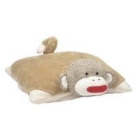Baby Starters Sock Monkey Pillow, Tan
