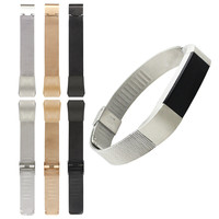 New Arrival 3 Colors Genuine Mesh Stainless Steel Bracelet Watch Band Strap For Fitbit Alta Tracker Bracelet High Quality