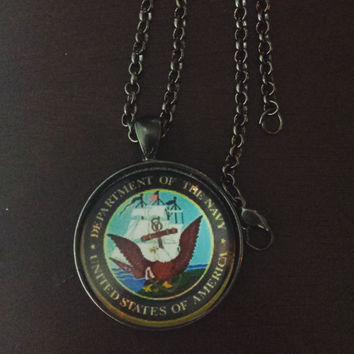 United States Navy military necklace