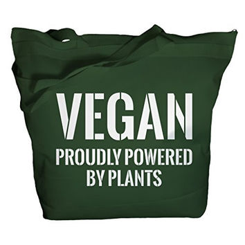 Shirts By Sarah Tote Bag Funny Vegan Powered By Plants Bags