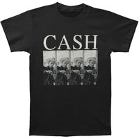 Johnny Cash Men's  Cowboy Hat T-shirt Black