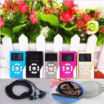 dower me Hot Sell  USB Mini LCD portable Support 32GB mini SD TF card MP3,  player has new headset and storage kit Free Shipping