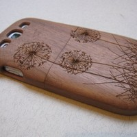 Samsung Galaxy S3 case -wooden cases walnut/cherry or bamboo-Dandelion