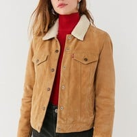 Levi's Suede Sherpa Trucker Jacket | Urban Outfitters