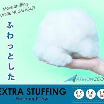 Arrowzoom Supreme Polyester Fiber Stuffing Non-Allergenic Dakimakura Hugging Body Inner Cushion Pillow Filling