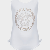 Young Versace Embellished Young Versace Swimsuit for Girls | US Online Store