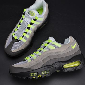 Nike Air Max 95 Og White/neon Yellow-black-anthracite 554970-174 - Beauty Ticks