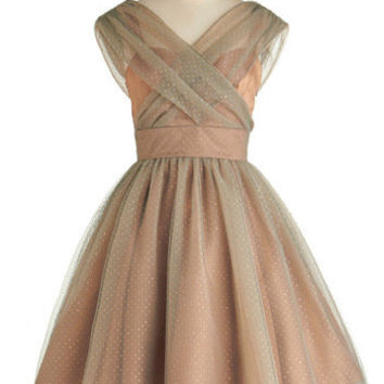 Belle in Bronze Dress | Mod Retro Vintage Dresses | ModCloth.com