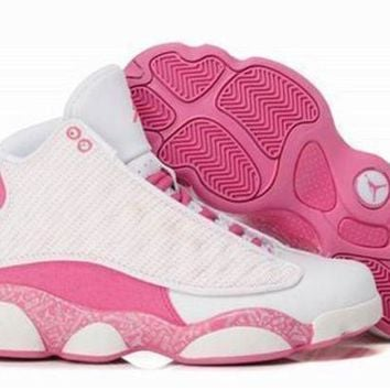 Hot Air Jordan 13 Retro Women Shoes Pink White Beige
