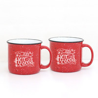 His/Hers Hot Cocoa Mug Set - LIMITED EDITION