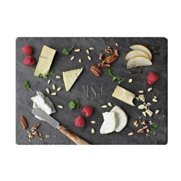 Traditional Monogram Slate Cheese Board