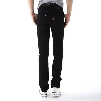 Men's Fashion Men Slim Black Classics Denim Pants Korean Jeans [6528423235]
