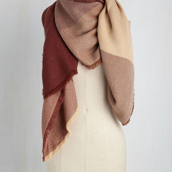 Of a Different Colorblock Scarf in Earth | Mod Retro Vintage Scarves | ModCloth.com