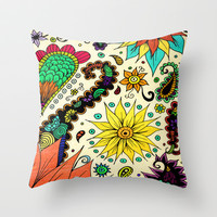 Botanic Throw Pillow by DuckyB (Brandi)