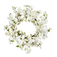 Christmas Wreath -24 Inch Cherry Blossom Door Wreath
