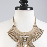 ancient egyptian necklace - antique gold