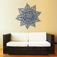 Mandala Wall Decal Yoga Studio Vinyl Sticker Decals Ornament Moroccan Pattern Namaste Lotus Flower Home Decor Boho Bohemian Bedroom ZX179