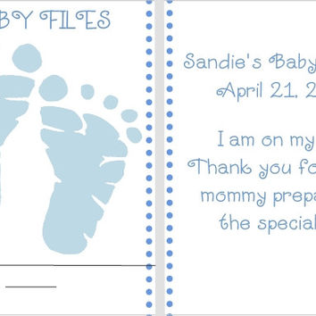 Blue Baby Feet Nail File Favors