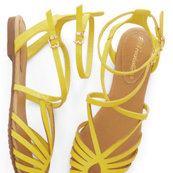 ModCloth Boardwalk Lemonade Sandal