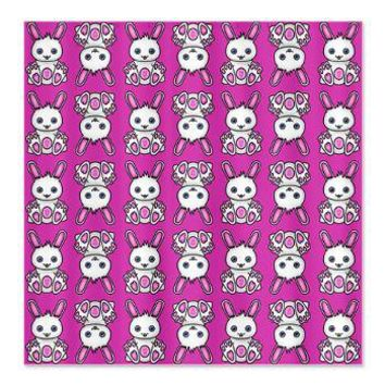 Kawaii Pink Bunny Pattern Shower Curtain> Valentines Gifts> Hippy Gift Shop Funky Hippie Gifts