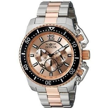 Invicta Men's 21956 Pro Diver Quartz 3 Hand Rose Gold Dial Watch