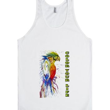 Colorful Parrot | Tank Top | SKREENED