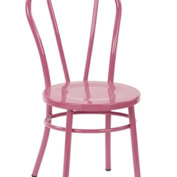 Thonet Style Pink Metal Bentwood Steel Side Chair (set Of 2)