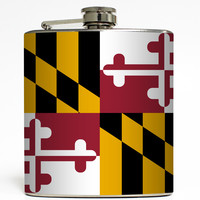 Maryland - State Flag Flask