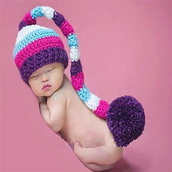Baby Newborn Photography Props Accessories Handmade Baby Girl Caps Hats Beanies Costume Knitted Newborn Baby Hat