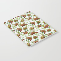 Red Panda Pattern Notebook by Tanyadraws