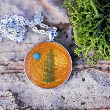 Golden Fern Necklace
