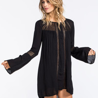 Volcom Traffik Dress Black  In Sizes