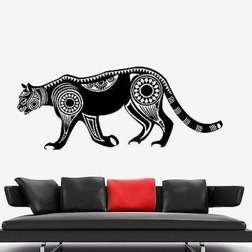 Wall Vinyl Mountain Lion Animal Symbol Ornament Mural Vinyl Decal Unique Gift (z3347)