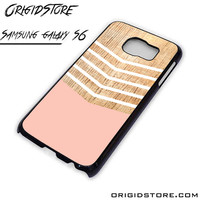 Chevron Pink Wave Case For Samsung Galaxy S6 Case