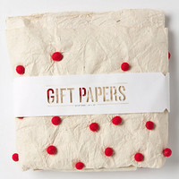 Handpainted Pompom Wrapping Paper