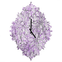 Lisa Argyropoulos Angelica Purple Baroque Clock