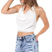 Marshmallow halter top in white | SHOWPO Fashion Online Shopping