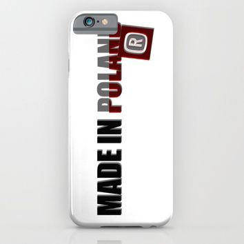 Made in Poland, patriotic shirts, country proud tee shirt design v.2 shadowed iPhone & iPod Case by Peter Reiss