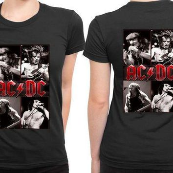 CREYH9S ACDC Cover Title 2 Sided Womens T Shirt