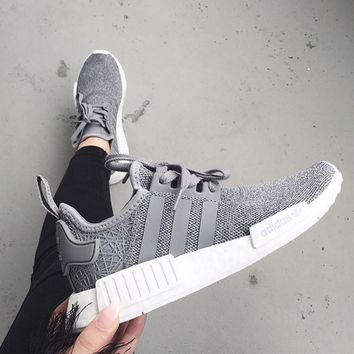 "Women ""Adidas"" NMD Boost Casual Sports Shoes Gray"
