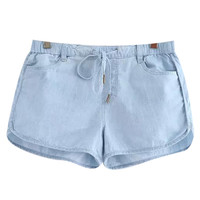 Drawstring Shorts with Pockets
