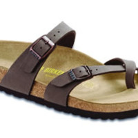 Mayari Mocha Birkibuc Sandals | Birkenstock USA Official Site