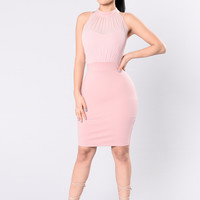 Driving You Crazy Dress - Light Rose