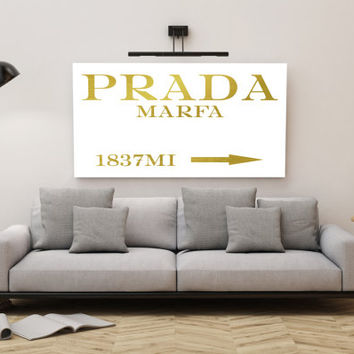 Prada Marfa FASHION GOLD POSTER;Home Poster;Home decor,Gold prints,wall art,Printable art;dIgitalprint,Instant Download;Wall Poster;Prints
