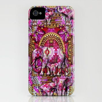 Wild Elephants -Pink Fractal Safari iPhone Case by DevineDayDreams-aka Desirée Glanville | Society6