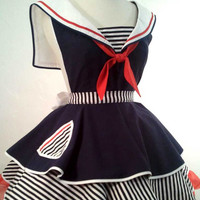 Sailor Sue Pin Up Costume Apron