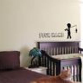 CUSTOM  PERSONALIZED BABY NAME TINKERBELL FAIRY WALL  STICKER BOY GIRL ROOM 07