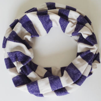 Purple Striped Knit Childs Infinity Scarf Toddler Infinity Scarves Kids Scarves Fall Fashion Accessories Children Girls Scarves
